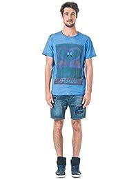 Tee shirt dirty dyed imprimé