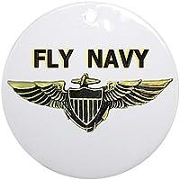CafePress–Fly Navy Ornament (rotondo)–Vacanza decorazione