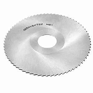 125 mm x 1,5 mm x 27mm HSS 72T Ritzsägeblatt Cutting Tool Silber Ton
