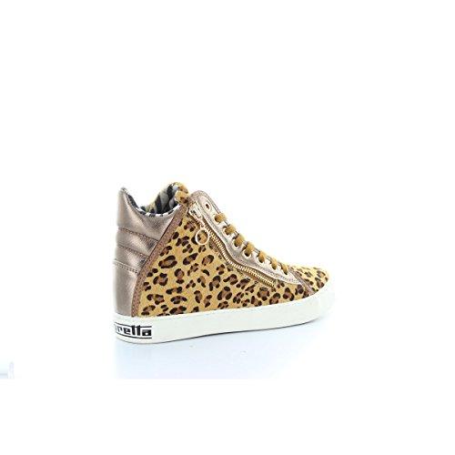 Sneakers Femme Léopard Beige