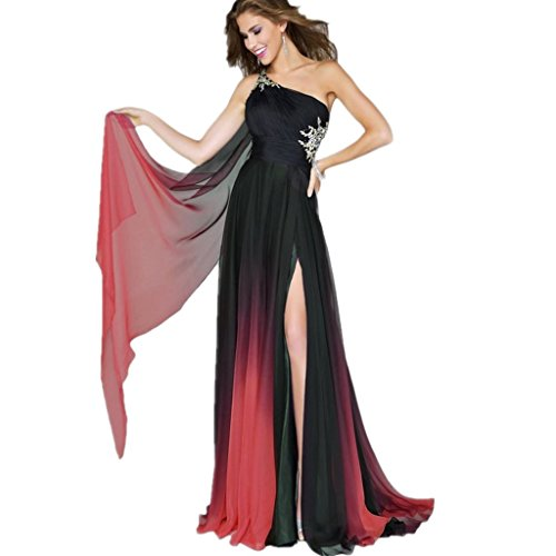 Drasawee - Robe - Taille empire - Femme Rose - Rosa - Black and Red 3#