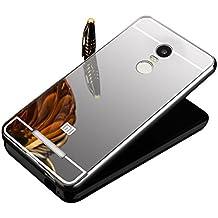 Vandot Ultra-thin Metal Frame Bumper Funda PC Back Case para Xiaomi Redmi Note 3 / Note 3 Pro, Lujo Ultrafino del Metal de Aluminio Espejo Efecto Shockproof Hard PC Back Cover - Plata