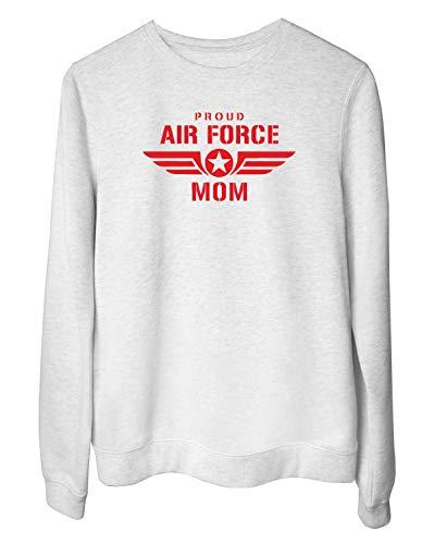 T-Shirtshock Rundhals-Sweatshirt fur Frau Weiss WTC0741 Proud air Force mom w pink Air Force Mom Sweatshirt