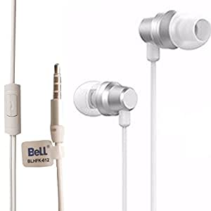 Bell BLHFK-612 Metal Subwoofer Universal 3.5mm Headphone With Mic - Silver