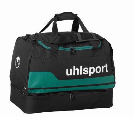 uhlsport 100424705_Schwarz/Lagune_L - Borsa sportiva unisex, L, colore: Multicolore Schwarz/Lagune