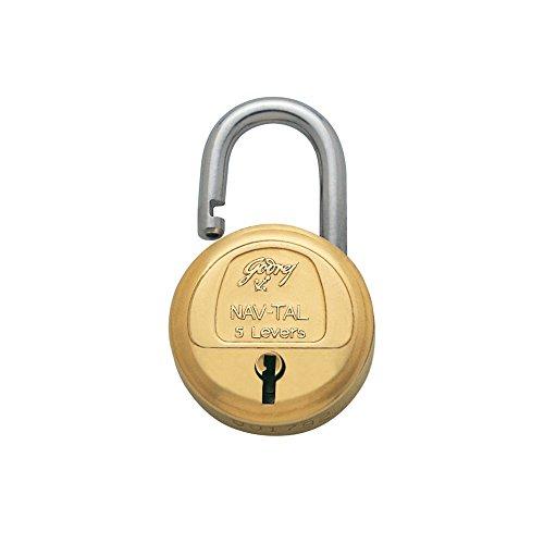 Godrej Locks Navtal 5 Levers - 3 Keys (Brass)