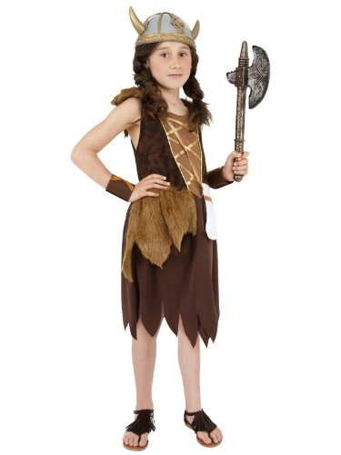 Anglo Kostüm Kinder Saxon - Girls Viking Anglo Saxon Celtic Warrior Fancy Dress Costume 7-9 yrs 10-12 yrs LARGE COSTUME ONLY