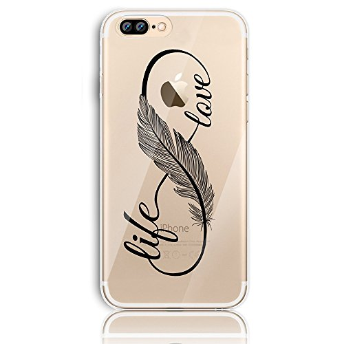 iPhone 7 Plus Silikon Hülle,iPhone 8 Plus Hülle,Sunroyal TPU Case Schutzhülle Silikon Crystal Kirstall Clear Case Durchsichtig,Basketball Shoot Malerei Muster Transparent Weichem Silikon Schutzhülle H Pattern 29
