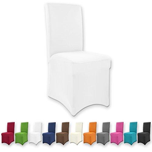 Gräfenstayn Universal-Stuhlhusse Henry in verschiedenen Farben für runde und eckige Stuhllehnen (Weiß)