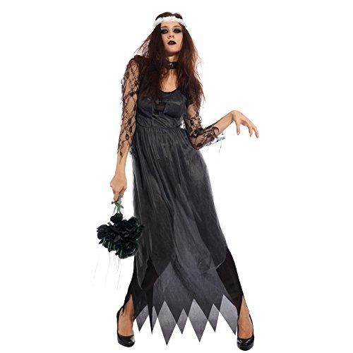 Imagen de maboobie  maboobie  disfraz de novia de la muerte classic zombie para mujer adulto fiestas temáticas carnavales halloween talla xxl