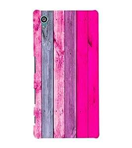EPICCASE Pink wood Mobile Back Case Cover For Sony Xperia Z5 (Designer Case)