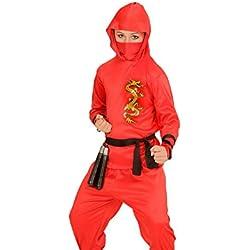 Widmann - Disfraz de ninja dragon talla 8-10 años