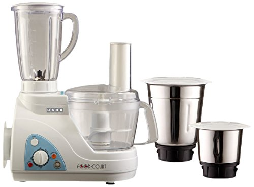 Usha 2663 600-watt Food Processor (white)
