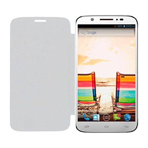 Acm Leather Diary Folio Flip Flap Case For Micromax Superfone Canvas Xl A119 Mobile Front & Back Cover White  available at amazon for Rs.179