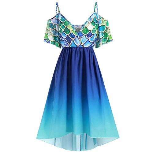 Damen Vintage Print Kurzarm Mini Kleid Elegant Steigung Sling Mini Kleid Fischschuppen Drucken Kleid Bequem Atmungsaktive Sommer V-Ausschnitt Casual Kleid Animal Print Tube Dress