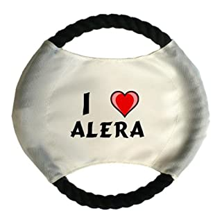 Personalised dog frisbee with name: Alera (first name/surname/nickname)