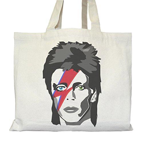 Tote bag Urbain - Soufflet et Poches intérieures - Toile épaisse de coton Bio - David Bowie Major Tom