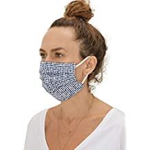 HOUSE OF BAUKJEN masks as featured in GRAZIA, MARIE CLAIRE and DAILY MAIL. Two-pack double layered Skin Friendly, Unisex, Washable, REUSEABLE and ECO-FRIENDLY Cotton masks (Black Check)