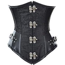 Burvogue Femmes Steampunk Corset Serre-Taille Serre-Taille Gothique Bustier
