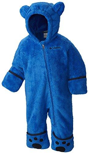 Columbia Fleeceanzug für Kinder, Foxy Baby II Bunting, Polyester, Blau (Super Blue/Collegiate Navy), Gr. 6/12 Monate, WN0016