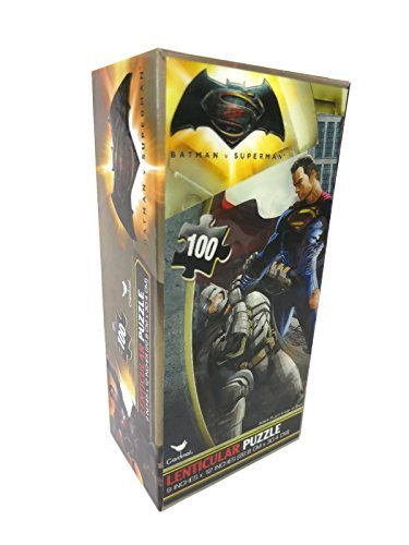 Batman v Superman: Dawn of Justice 3D Lenticular Tower Box Puzzle, 100 Pieces by DC Comics