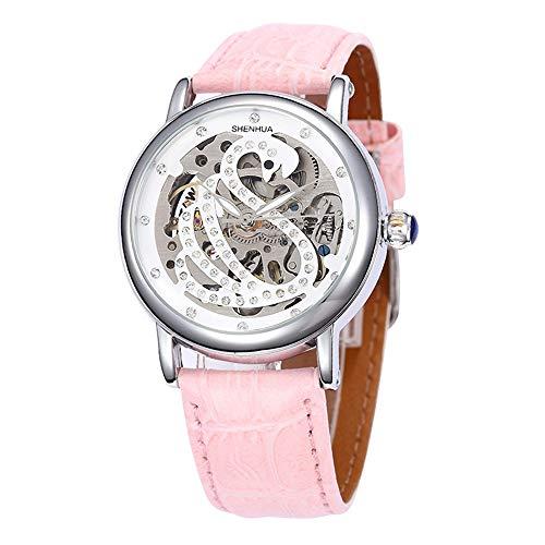 HWCOO Orologi meccanici Shenhua/ladies orologio meccanico a forma di cigno 9352T (Color : 1)