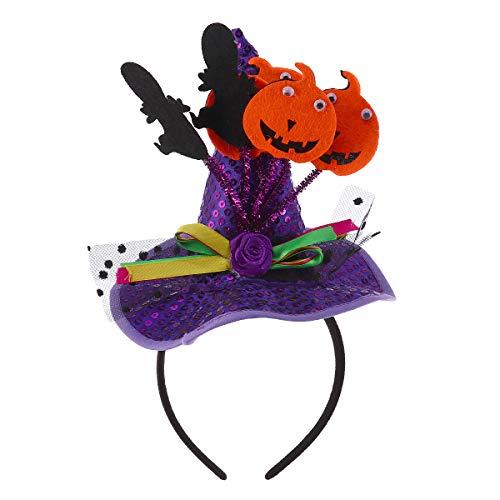 �rbis Stirnband Pailletten Hexenhut Stirnband Haarband Phantasie Cosplay Dress Up Haarschmuck für Halloween Performance Requisiten ()