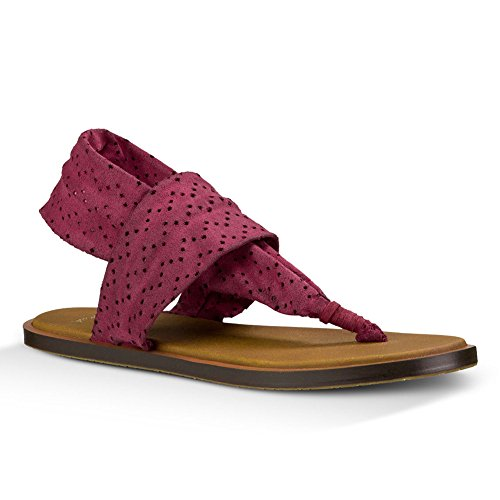 Sanuk Womens Yoga Devine Sandal Footwear Rouge - Dusty Boysenberry