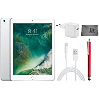 Apple iPad Wifi Tablet PC MP2J2FD/A 24,6 cm ( 9,7 Zoll ) - 128GB , Silber + Highend Zubehor Bundle ** Neueste model 2017 **