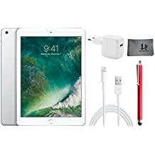 Apple iPad Wifi Tablet PC MP2G2FD/A 24,6 cm ( 9,7 Zoll ) - 32GB , Silber + Highend Zubehor Bundle ** Neueste model 2017 **