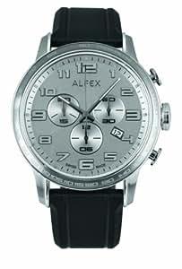 Alfex - 5672_053 - Montre Homme - Quartz Chronographe - Cadran Gris - Bracelet Caoutchouc Noir