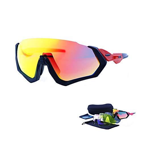 erhuo Fahrradbrillen für den Außenbereich, polarisierte Sportanzüge, gelb