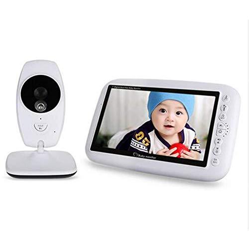 PPWYY Baby-Monitor-Video Babyfoon Traf Kamera 7-Zoll-Digital-2.4Gh Infrarot-Nachtsicht-Temperatur-Erkennung Electronic Nanny F1.2 Digital Video