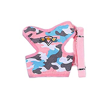 Vêtements pour Chien,Réglable Confortable Respirant Chien Gilet Gilet Corde Chien Strap Set Camouflage,Pet Manteaux (M, Multicolore)