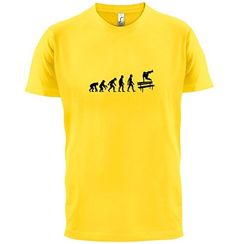 Herren T-Shirt - Evolution of Man - Parkour Freerunning - 10 Farben Gelb