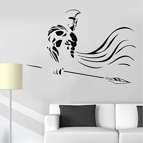 Griechenland Spartan Krieger Speer Krieg Alte Vinyl Wandtattoo Wandaufkleber Kunst Wohnkultur Wandbild 58x48 cm