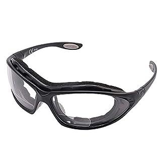 SAFEYEAR Gafas de Seguridad Hombre (Cinta ajustable) – Gafas de Seguridad con Protección UV SG002 Color Negro
