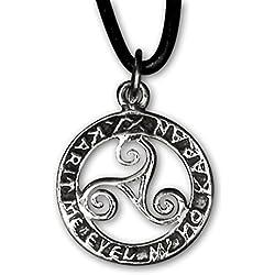 Triskelen Anhänger Keltischer 925er Silber Schmuck etNox Schutzamulett 544