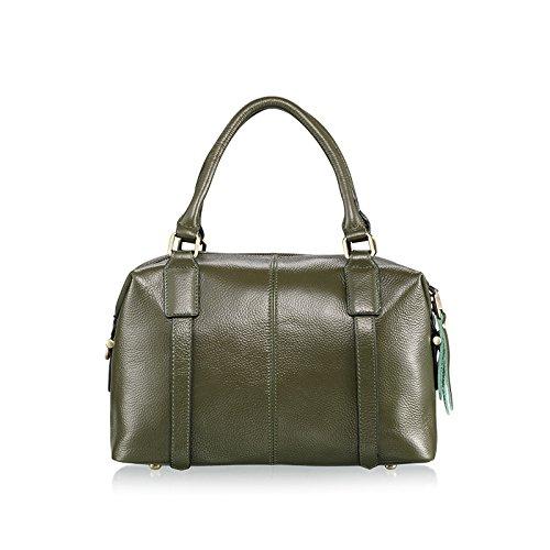 Mefly Ladies Fashion Borsetta Tutti-Match Borsa Tracolla In Pelle Verde green