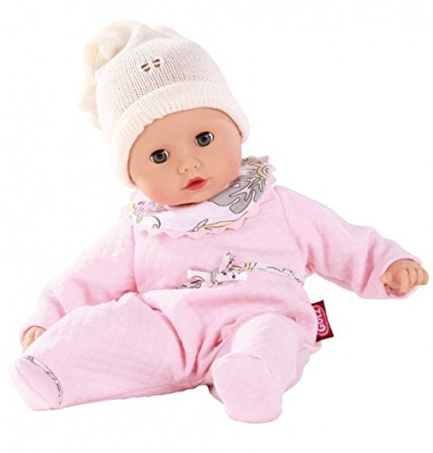 Gotz 1320588 Muffin baby doll, 33cm, blue sleeping eyes, without hair, soft body, suitable for children 18+ months
