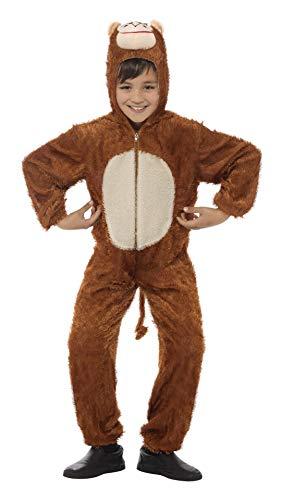 Smiffys Kinder Unisex Affen Kostüm, Jumpsuit mit Kapuze, Größe: M, ()