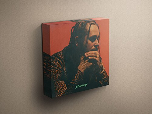 Post Malone Stoney Cover Art Stretched & Mounted Canvas Art Print 20 x 20  (51 x 51cm)