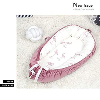 Cama de bebé Cuna recién nacida Nido del bebé, manta de sueño cómoda desmontable del terciopelo del algodón de la franela