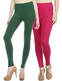 Sakhi Sang Legging Pack of 2 : Green & Magenta