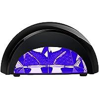 GHB Lampada a LED UV Professionale per Unghie Asciugatrice Unghie Macchina per Asciugare Polacco di Chiodo Unghia Asciuga Unghie con Timer da 30sec, 60sec, 90sec e 30min-Nero con Marchiata CE