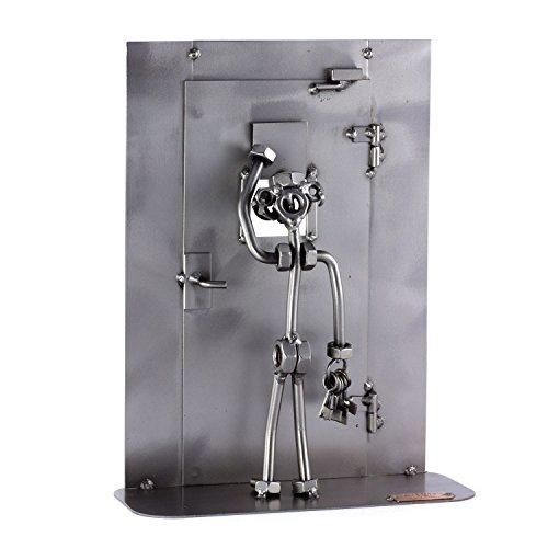 Steelman24 I Schraubenmännchen Schließer Im Gefängnis I Made in Germany I Handarbeit I Geschenkidee I Stahlfigur I Metallfigur I Metallmännchen (Männer Im Gefängnis)