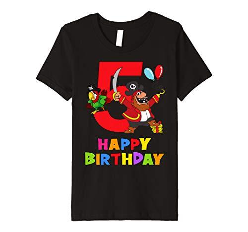 (Kinder 5 Jahre Kinder 5. Geburtstag Jungen Mädchen Pirat T-Shirt)