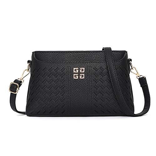Fyyzg einzelne Schulter Diagonale Tasche Korean Fashion Handtaschen Messenger Bag einfache kleine quadratische Schulter Diagonale -_ schwarz - Kors Michael Coach