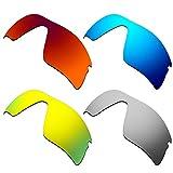 HKUCO Verstärken Ersatz-Brillengläser für Oakley Radar Range 53-097 Rot/Blau/24 Karat Gold/Titan Sonnenbrille
