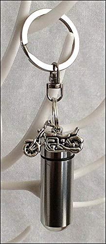 kgs Timeless Memoriali Anointing Oil Holder with Inner l, Moto Charm attaccato e Free pipetta per riempimento. Oli Essenziali per la Salute, Benessere e spiritualità, Silver
